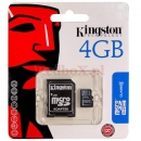 MICRO SD 4GB KINGSTON + ADAPTER SD