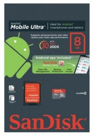 SanDisk micro SDHC 8GB Mobile Ultra ANDROID UHS-I